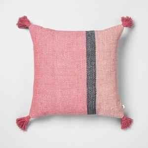 HEARTH & HAND NWT color block square pillow 18x18
